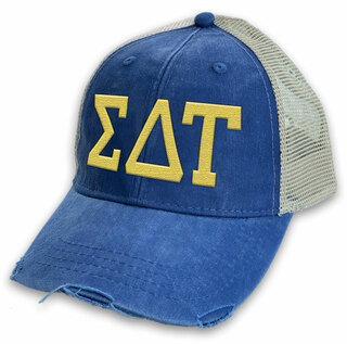 Sigma Delta Tau Distressed Trucker Hat