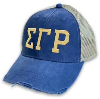Sigma Gamma Rho Distressed Trucker Hat