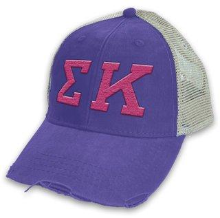 Sigma Kappa Distressed Trucker Hat