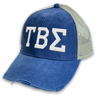 Tau Beta Sigma Distressed Trucker Hat