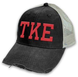Tau Kappa Epsilon Distressed Trucker Hat