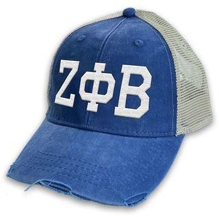 Zeta Phi Beta Distressed Trucker Hat