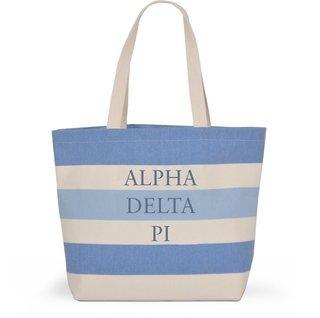 Alpha Delta Pi Bid Day Striped Tote