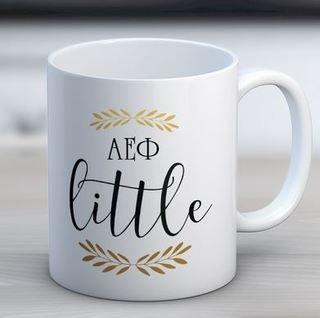 Alpha Epsilon Phi Little Coffee Mug