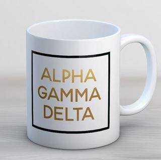 Alpha Gamma Delta Faux Foil Coffee Mug
