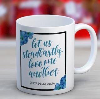 Delta Delta Delta Floral Motto Coffee Mug