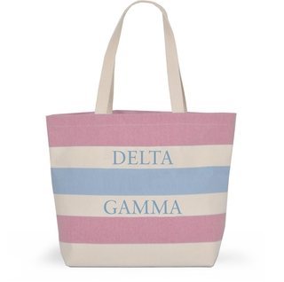 Delta Gamma Bid Day Striped Tote