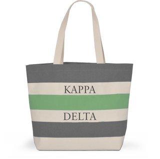 Kappa Delta Bid Day Striped Tote