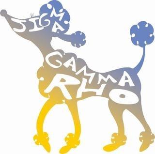 Sigma Gamma Rho Mascot Hand Drawn Sticker