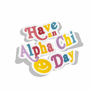 Alpha Chi Omega Day Decal Sticker