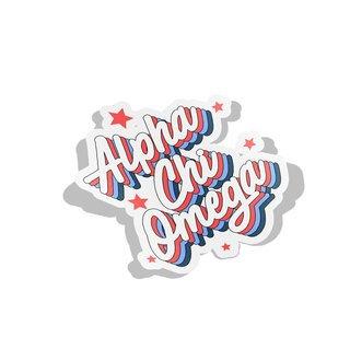 Alpha Chi Omega Flashback Decal Sticker