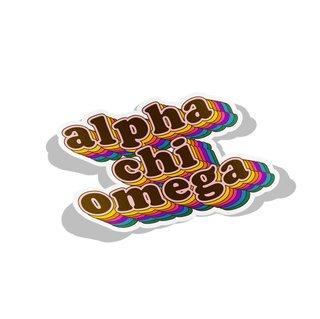 Alpha Chi Omega Retro Maya Decal Sticker