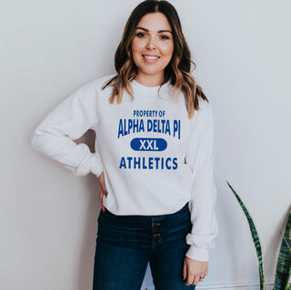 Alpha Delta Pi Athletics Crewneck Sweatshirt