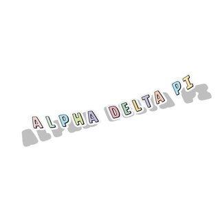 Alpha Delta Pi Cartoon Decal Sticker