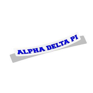 Alpha Delta Pi Long Window Sticker