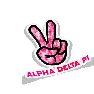 Alpha Delta Pi Peace Hands Decal Sticker