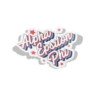Alpha Epsilon Phi Flashback Decal Sticker