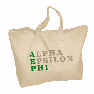 Alpha Epsilon Phi Zippered Tote Bag