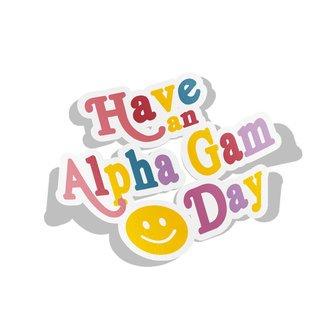 Alpha Gamma Delta Day Decal Sticker
