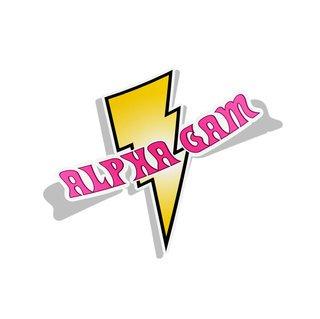 Alpha Gamma Delta Lightning Bolt Decal