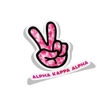 Alpha Kappa Alpha Peace Hands Decal Sticker