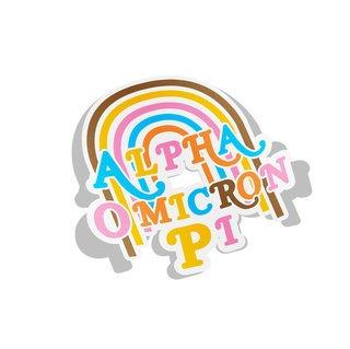 Alpha Omicron Pi Joy Decal Sticker