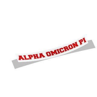 Alpha Omicron Pi Long Window Sticker