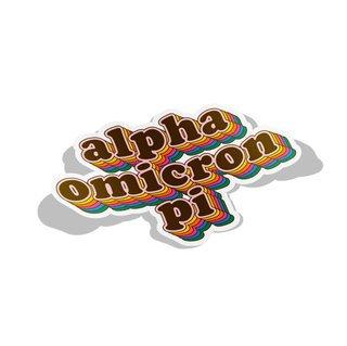 Alpha Omicron Pi Retro Maya Decal Sticker