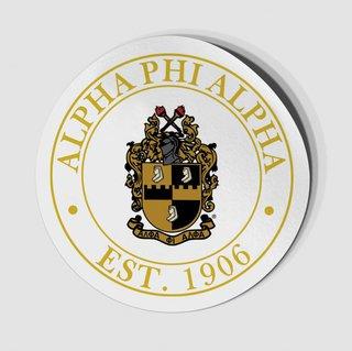 Alpha Phi Alpha Circle Crest - Shield Decal