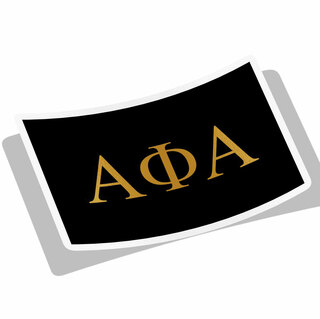 Alpha Phi Alpha Flag Decal Sticker