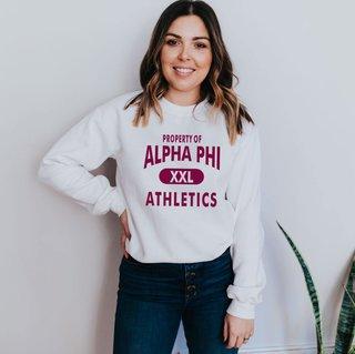 Alpha Phi Athletics Crewneck Sweatshirt