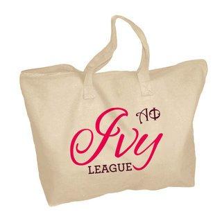 Alpha Phi Ivy League Zippered Tote Bag