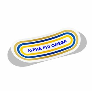 Alpha Phi Omega Capsule Decal Sticker