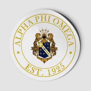 Alpha Phi Omega Circle Crest - Shield Decal