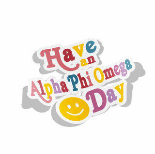Alpha Phi Omega Day Decal Sticker