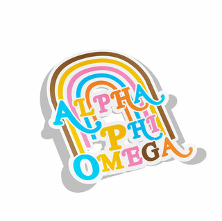 Alpha Phi Omega Joy Decal Sticker