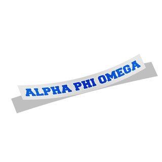 Alpha Phi Omega Long Window Sticker