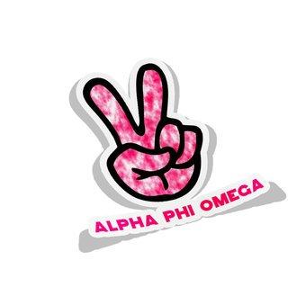 Alpha Phi Omega Peace Hands Decal Sticker