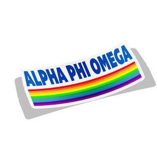 Alpha Phi Omega Prism Decal Sticker