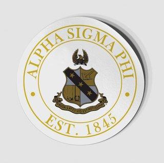 Alpha Sigma Phi Circle Crest - Shield Decal