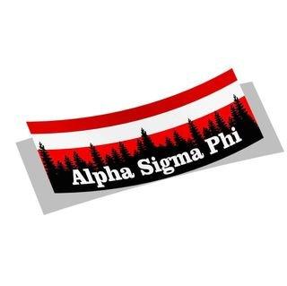 Alpha Sigma Phi Mountain Decal Sticker