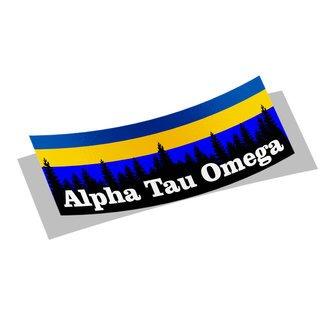 Alpha Tau Omega Mountain Decal Sticker