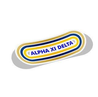 Alpha Xi Delta Capsule Decal Sticker
