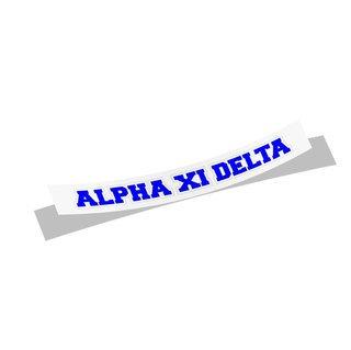 Alpha Xi Delta Long Window Sticker