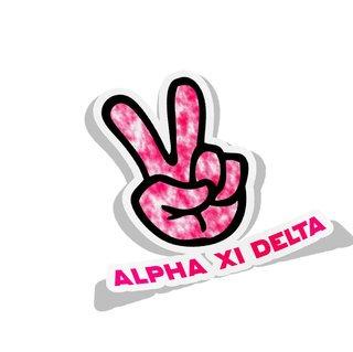 Alpha Xi Delta Peace Hands Decal Sticker