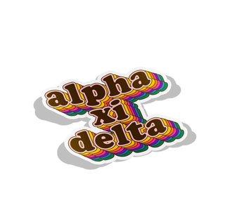 Alpha Xi Delta Retro Maya Decal Sticker