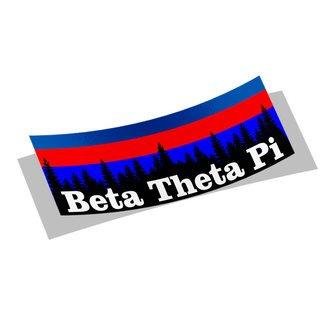 Beta Theta Pi Mountain Decal Sticker