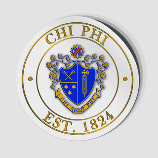 Chi Phi Circle Crest - Shield Decal
