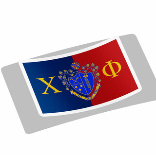 Chi Phi Flag Decal Sticker