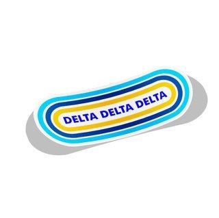 Delta Delta Delta Capsule Decal Sticker